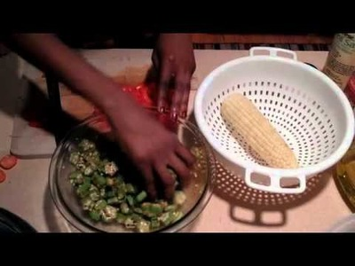 How to Make a Raw Curried Okra Cobb Salad