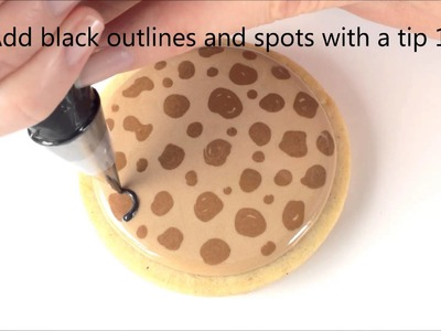 How To Make Leopard Print Cookies With Royal Icing