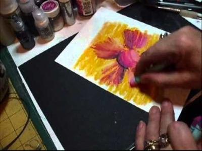 How to Paint a pretty flower for Beginners Tutorial