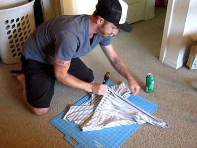 How to turn a tshirt into a tank top like a pro with Lamar Maughan