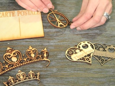 Laser cut embellishments by Grapevine Designs and Studios