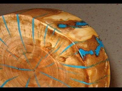 Make a log slice wood art decor - woodworking