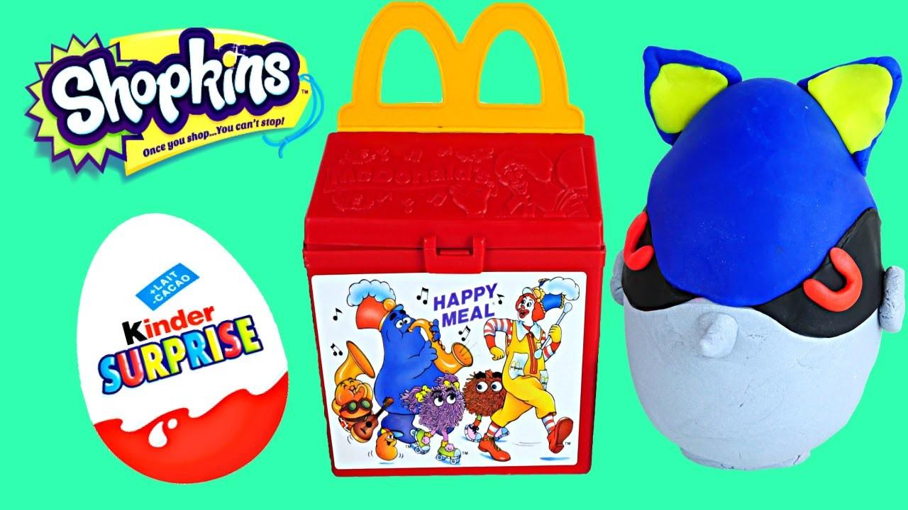 McDonalds Kinder Surprise Eggs Happy Meal Toys Play Doh Spongebob Shopkins MLP Frenzies