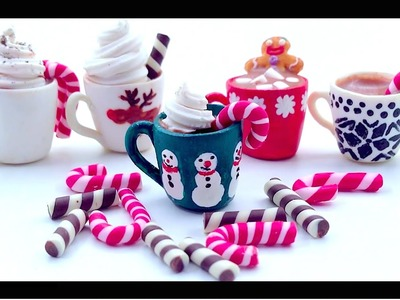 ❄ Mugs Of Hot Chocolate - Polymer Clay Tutorial ❄
