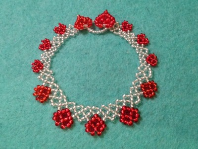 Netted heart bracelet and necklace tutorial