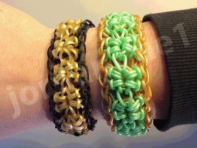 New Rainbow Loom Open Starburst Bracelet - One or Two Looms - Crazy Loom, Wonder Loom, Bandaloom