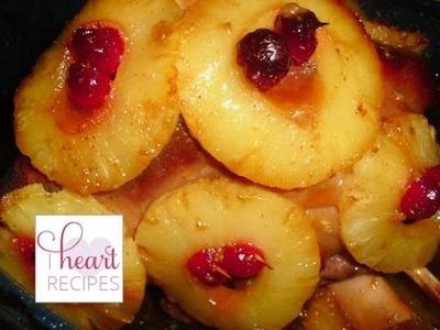 Pineapple Glazed Ham - I Heart Recipes