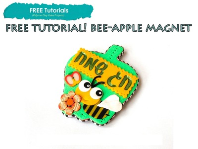 PolyPediaOnline TV - FREE How To Create a Polymer Clay Stamped Apple Magnet Tutorial - PART 2