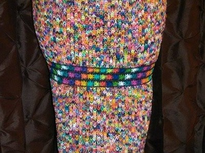 Rainbow Loom SuperLoom skirt