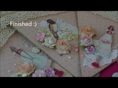 Shabby chic Pennant banner + Tutorial