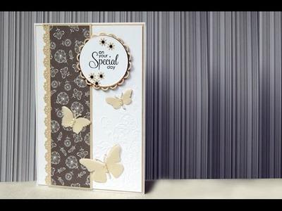 Simple and Elegant Wedding Card tutorial