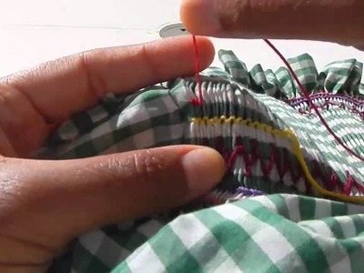 Smocking: gathering outline and cable stitches @catrionaakacat
