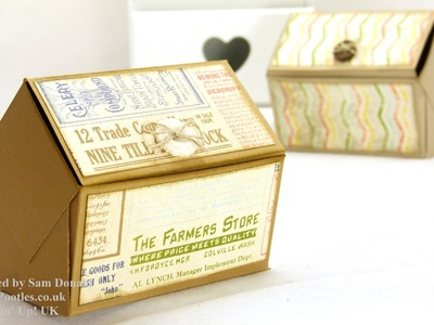 Stampin Up UK Pentagonal Treasure Chest Keepsake Box Tutorial