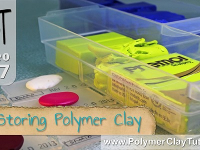 Storing Polymer Clay in Small Plastic Drawers