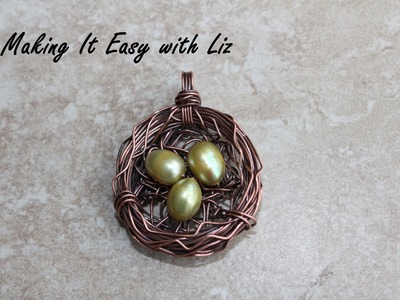 Wire-work Bird's Nest Pendant