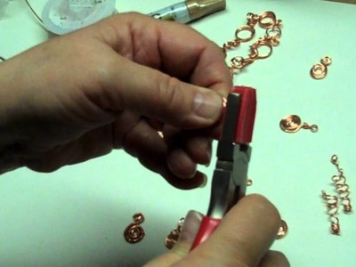 Wire Wrapping Coils, Tendrils, Curliques with Copper Wire from B'sue Boutiques