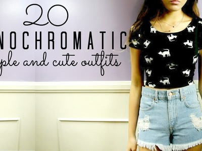 ♡20 SIMPLE & CUTE Monochromatic Outfits♡ || BACK TO SCHOOL SERIES