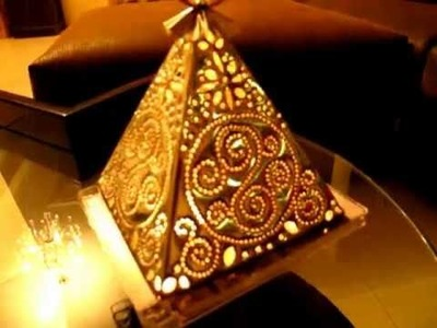 Amazing Handmade Pyramid Candle Lamp - ON SALE