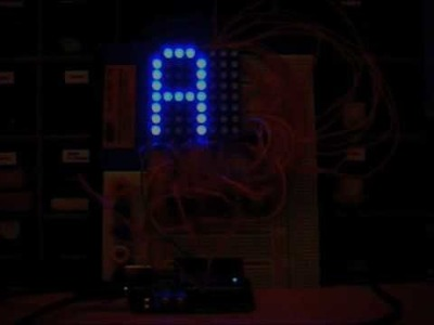Arduino Controlled RGB LED 8x8 Dot Matrix - Test 3
