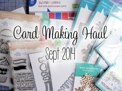 Card Making Haul - Sept 2014 | The Card Grotto