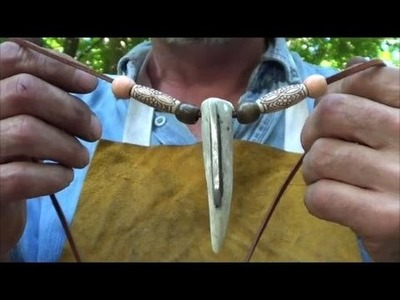 Deer Tine Fire Steel Survival Necklace or Key Chain   How To Build and Fire Starting Demo