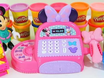Disney Minnie Mouse Bowtique Cash Register Playset - Minnie Dresses Up & Peppa Pig Gets Shopkins!