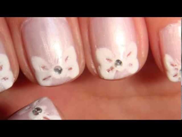 Easy Romantic Bow Tip Design Tutorial For Short Nails
