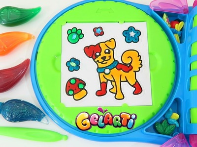 Gelarti Designer Studio Playset Part 2 | Paint and Decorate Your Own Peel Off Stickers!