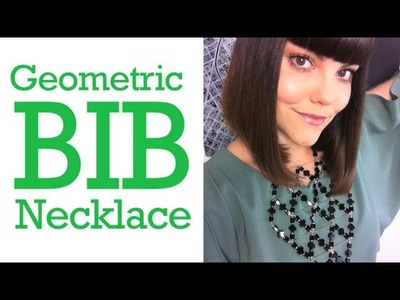 Geometric Bib Necklace, ThreadBanger How To
