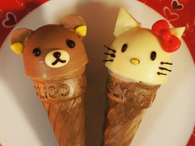 Glico Giant Caplico Decoration(edible chocolate candy) ~Hello Kitty and Rilakkuma~