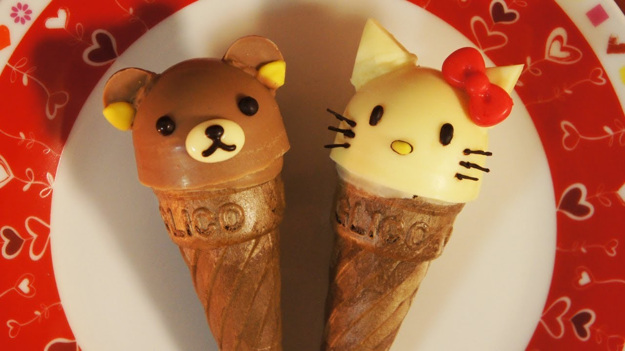 Glico Giant Caplico Decoration(edible chocolate candy) ~Hello Kitty and Rilakkuma~