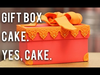 How to Cake… A Gift Box Cake - Chocolate Cake and Fondant!