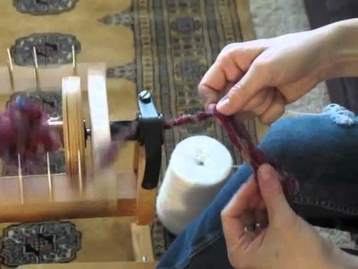 How to core spin silk waste yarn on a spinning wheel