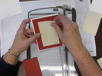 How to cut your card stock when making a greeting card and for layering