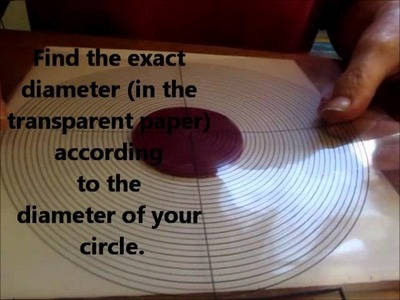 How to find easy and fast the center of a circle