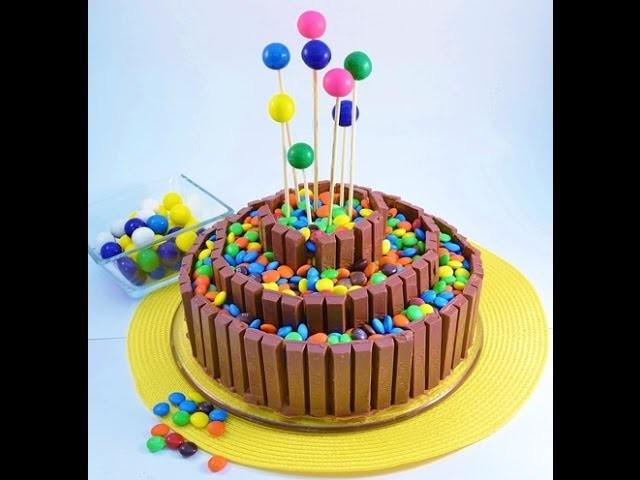 How to Make a No Bake Candy Bar Cake - Kit Kat Cake | RadaCutlery.com