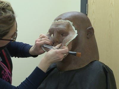 How to make a Sontaran - Dan Starkey transforms into Strax - Doctor Who