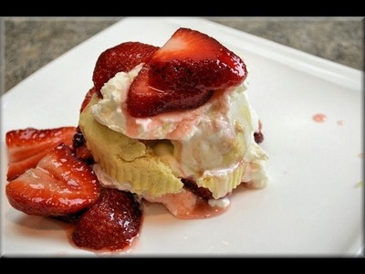 How to Make Strawberry Shortcake & Homemade Whipped Cream - COOKwithAPRIL