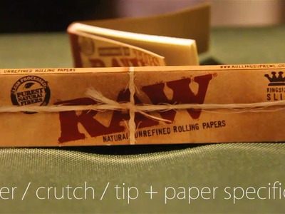 How to Roll a Filter. Crutch. Tip for your Joint + Paper and Filter Specifics