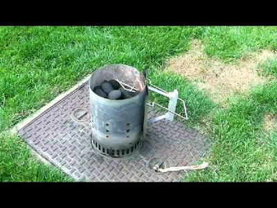 How to use a starter chimney to light BBQ charcoal