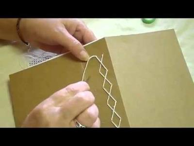 Junk Journal Book Binding Extra (B) Basic Cross Stich