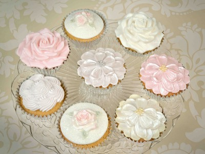 Karen Davies Cake Decorating Moulds. Molds - free beginners tutorial. how to - Cupcake Roses