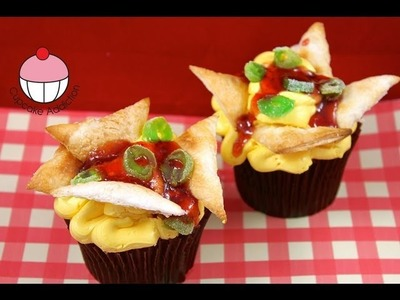 Make Nachos CUPCAKES! Mexican Cupcakes In Disguise - A Cupcake Addiction How to Tutorial
