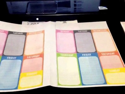 Make your own weekly pages for your Filofax