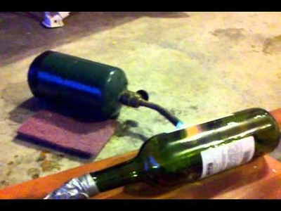 Melting glass with a propane torch and a vacuum pump