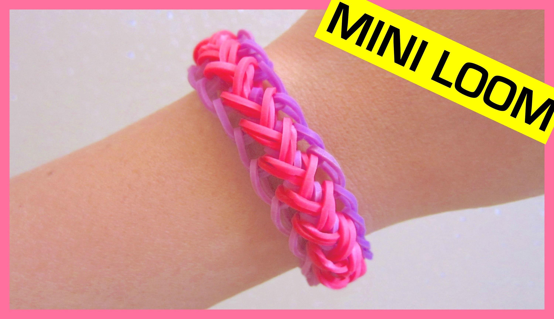 Mermaid Braid Rainbow Loom Bracelet on  Mini Loom