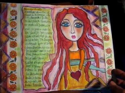 Mi primer mixed media art journal en mi estilo