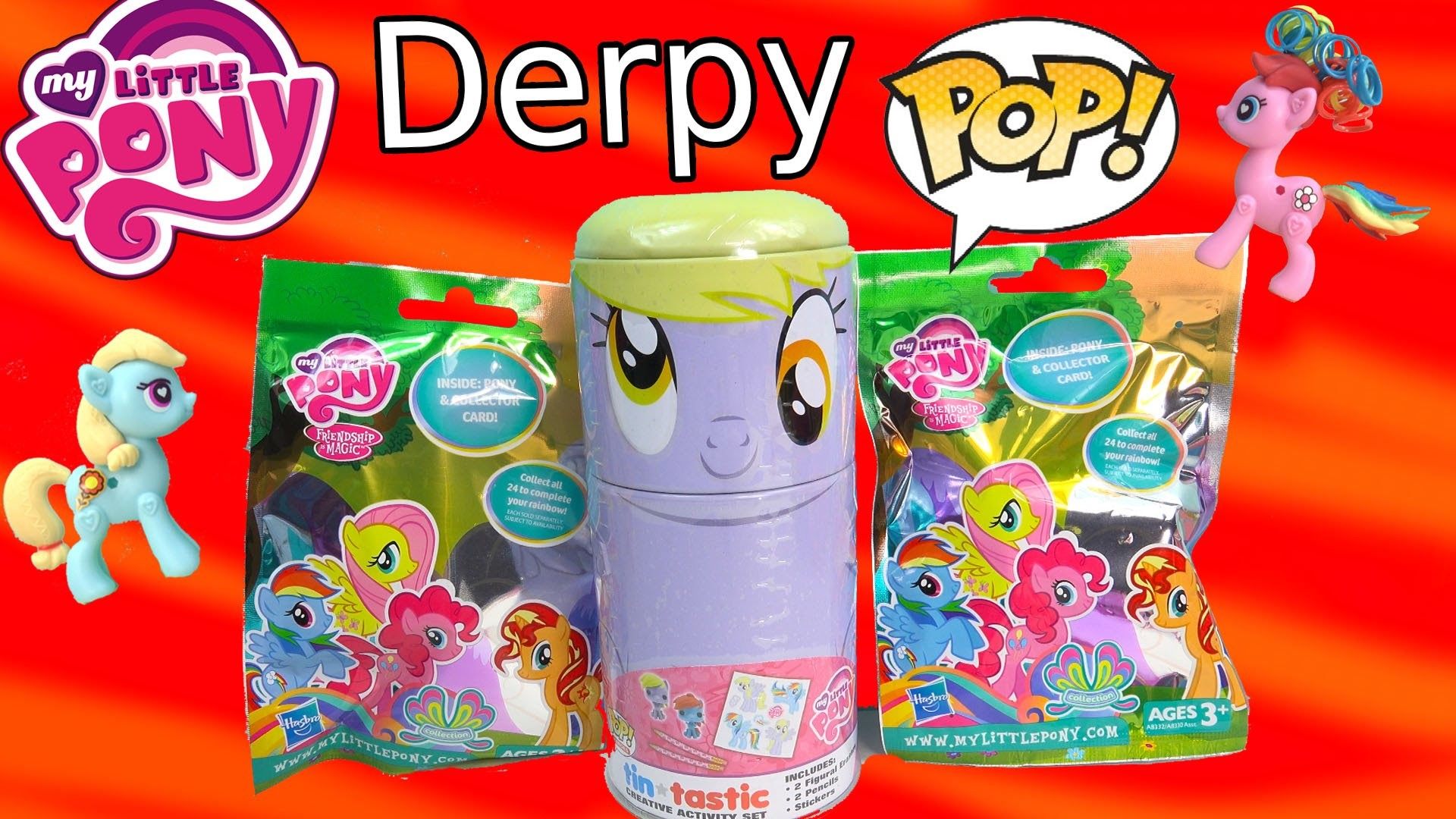 MLP My Little Pony Derpy Hooves Tin-Tastic Funko Pop Vinyl Blind Bags Figures Happy Cookieswirlc