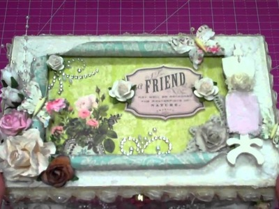 My Altered Cigar Box for the FABULOUS Miss Jade's Secret Squirrel Cigar Box Swap