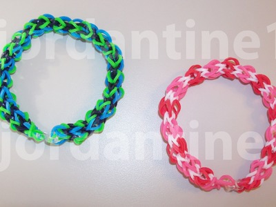 New Over Easy Bracelet - Beginner Level - Rainbow Loom, Crazy Loom, Bandaloom